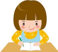 ★女の子が字を書く